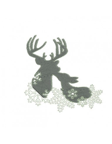 Instant download machine embroidery design Deer and fawn