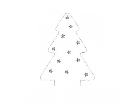Instant download machine embroidery design Christmas tree ITH