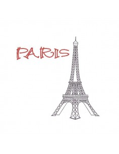 embroidery design eiffel tower Paris