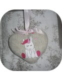 Instant download machine embroidery design baby Unicorn