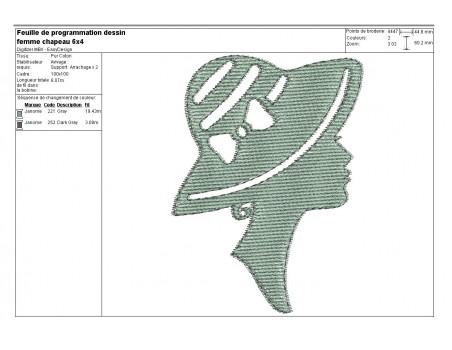 Instant download machine embroidery design caméo boy