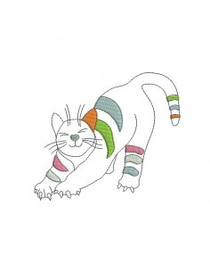 Instant download machine embroidery design big cat