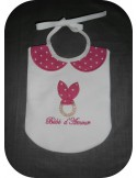 machine embroidery design  bib scalloped  ITH