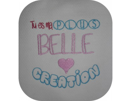 Instant download machine embroidery My most beautiful creation