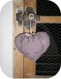 Motif de broderie machine coeur fleurs