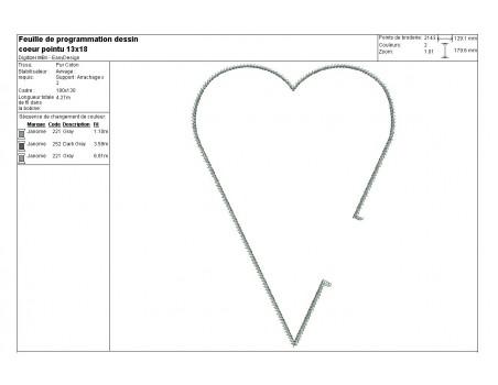 Instant download machine embroidery renaissance heart