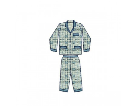 Instant download machine embroidery pajamas