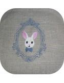 Motif de broderie tête de lapin