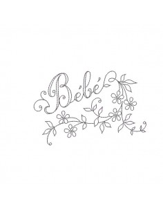 Instant download machine embroidery design baby vintage