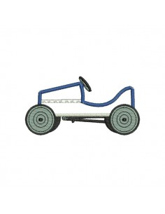Instant download machine embroidery applique Pedal car