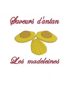 Instant download machine embroidery design  madeleine cake