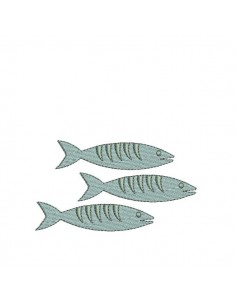 Instant download machine embroidery Fish