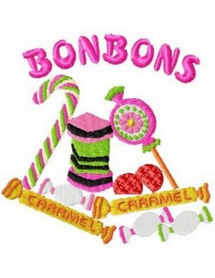instant download machine embroidery design candy