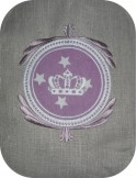 Instant download machine embroidery crown