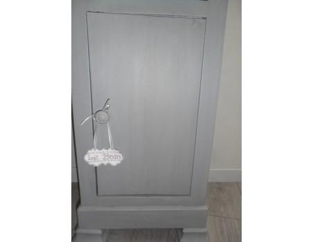Etiquette salle de bain  10x10 cm