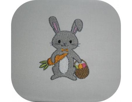 Motif de broderie machine lapin de pâques