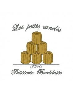 Motif de broderie les petits canelés de Bordeaux