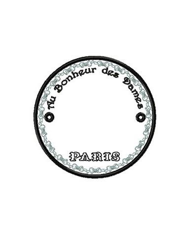 Médaillon Au bonheur des Dames  10x10 cm