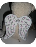 Instant download machine embroidery design angel wings applied