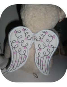 Instant download machine embroidery design angel wings ITH