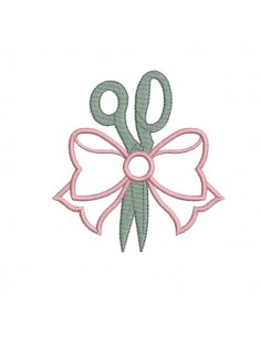 embroidery design scissors applied