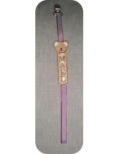 embroidery design bear pacifier clip ITH