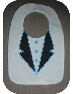 machine embroidery design  Bib suit ITH