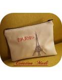 Motif de broderie machine Paris Tour Eiffel