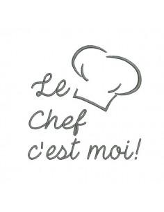 Motif de broderie machine chef de cuisine