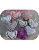 Instant download machine embroidery  heart flowers