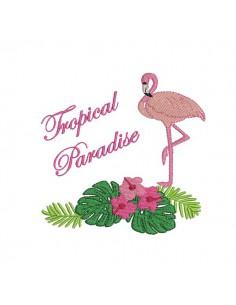 Motif de broderie machine tropical paradise